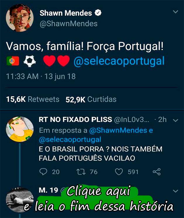 A MELHOR BRIGA ENTRE BRASILEIROS E PORTUGUESES NO TWITTER QUE VOCÊ VERÁ HOJE