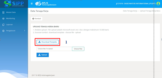 Petunjuk Penggunaan SIPP Online BPJS Ketenagakerjaan 27
