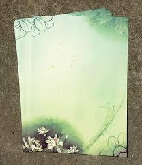 kertas surat warna hijau