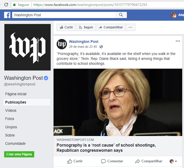 A pornografia é uma causa principal dos tiroteios em escolas, diz a congressista republicana Diane Black (Washington Post)