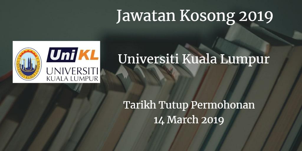 Jawatan Kosong UniKL 14 March 2019