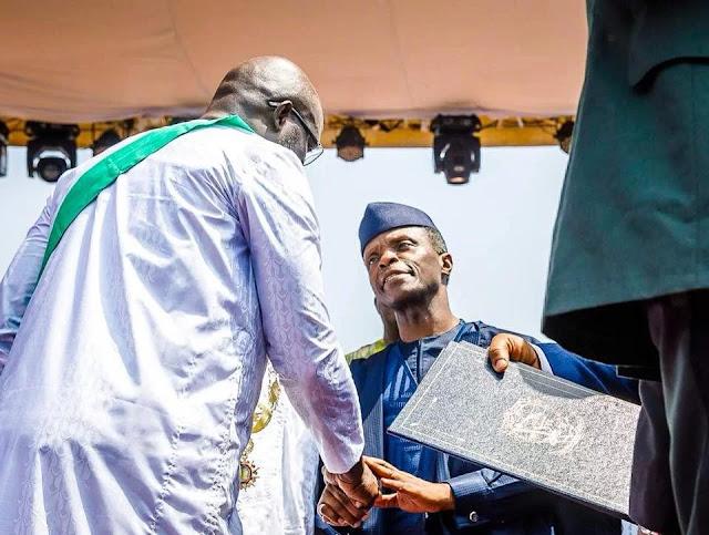 Yemi Osibanjo and Liberia President