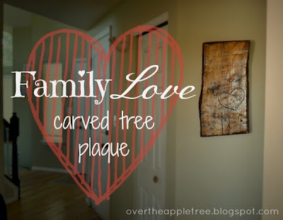Family Love Tree Carving >> Over The Apple Tree