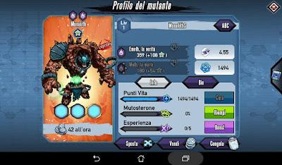 Mutants: Genetic Gladiators Breeding video N°199 (Monolith - Demon)