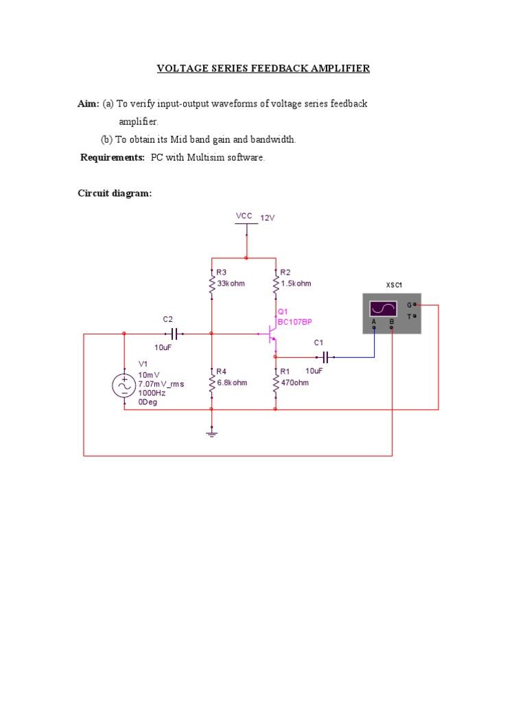 voltage series feedback amplifier - Scribd india