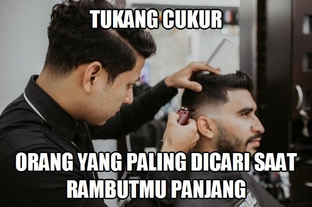 Meme Lucu Tukang Cukur