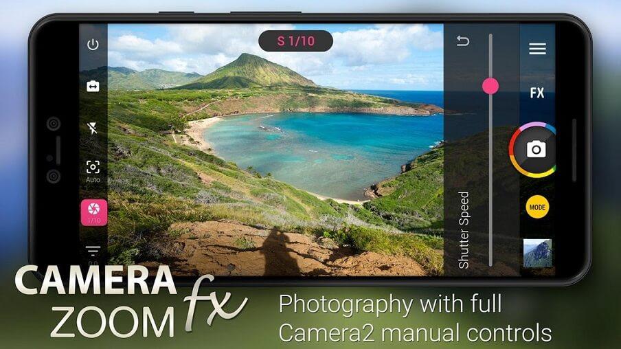 تطبيق Camera ZOOM FX للتصوير الاحترافي للاندرويد