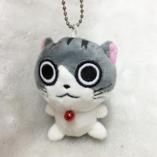 Cute Cat 7cm Plush Keychain Flushed