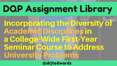 Incorporating the Diversity of Academic Disciplines in  a College-Wide First-Year Seminar Course to Address University Problems