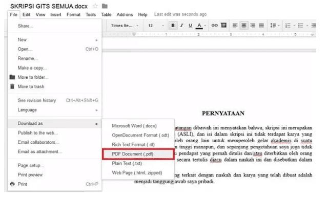 Cara Mengubah Dokumen Word Menjadi PDF menggunakan Google Drive