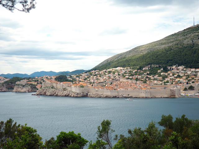 Old Town from Lokrum Island, Dubrovnik, Croatia