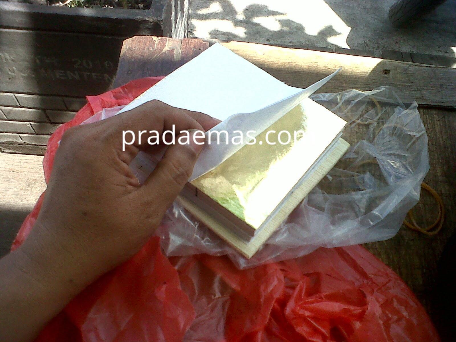 gold leaf kertas, prada kertas rapuh, kertas emas