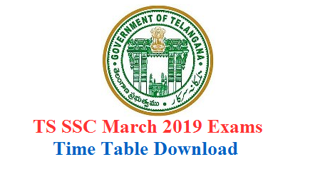 The office of the Director of Government Examinations of Telangana state known as Board of SSC has announced the date for SSC March 2019 TS 10th Class Time Table 2019: TSBSE has announced Telangana SSC Public Examination Time Table March 2019 Download here ts ssc 2019 time table,telangana ssc 2019 exams time table,10th class ssc 2019 exams time table,Telangana SSC March 2019 exams time table, TS  SSC March 2019 Public exams Day wise Schedule Subject wise Exam Dates. TS SSC Exam time table 2019: Manabadi, bse.telangana.gov.in Telangana 10th Class Timetable 2019. ts-telangana-ssc-march-2019-public-exams-dates-schedule-manabadi.com.time-table-download