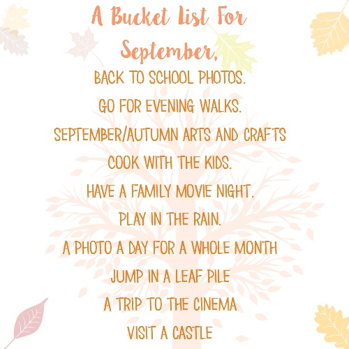 A family September bucket list.