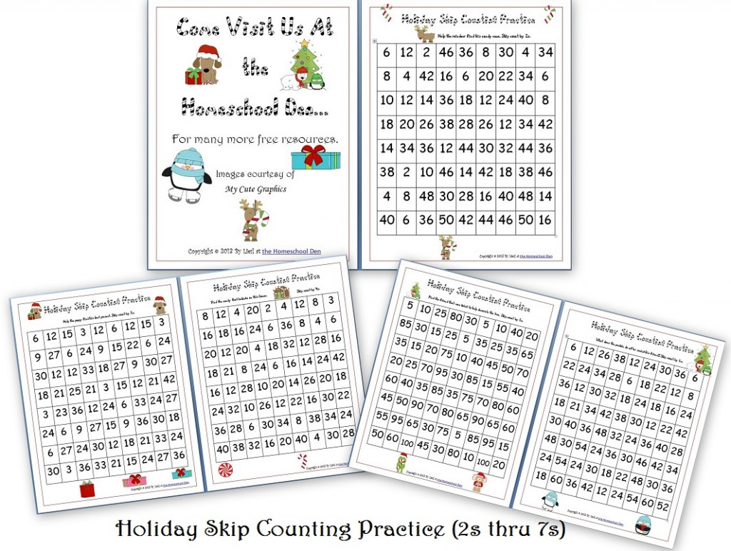 The Homeschool Den Math Skip Counting Game Speed