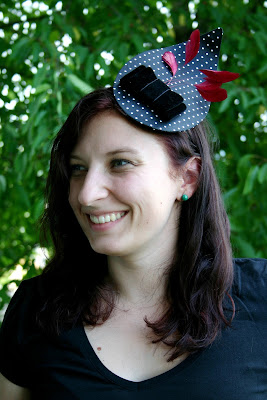 headpiece selbst gemacht polka dots schleife