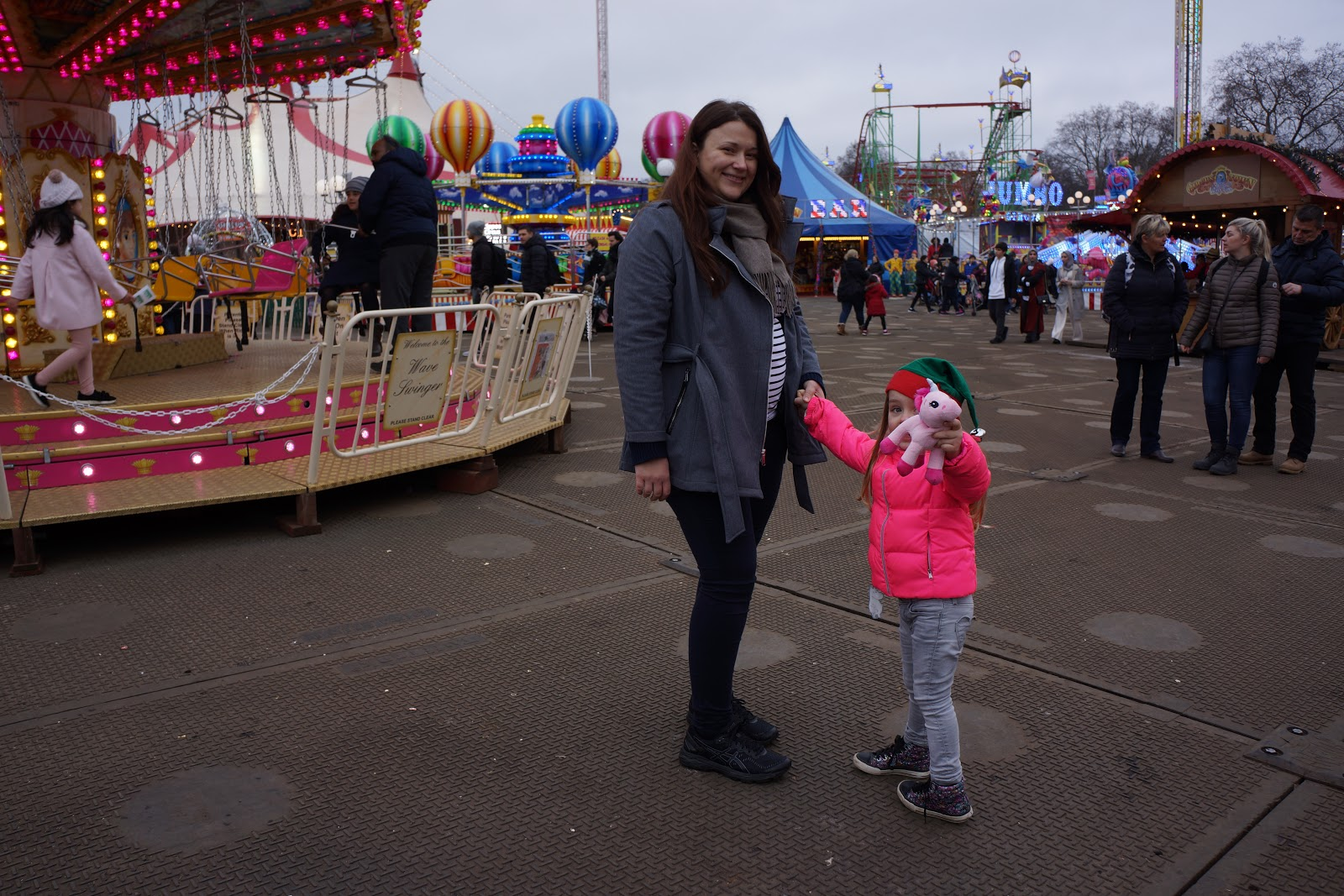 mum and daughter at london winter wonderland