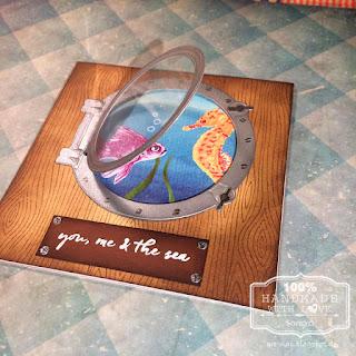 Hero Arts Color Layer Goldfish und Color Layer Seahorse mit Marianne Design Porthole zum Öffnen