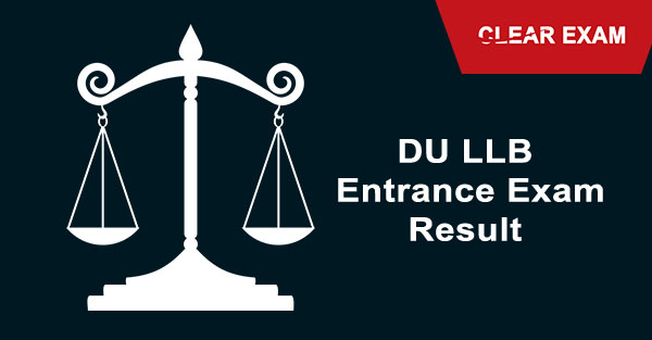 DU LLB Entrance Exam Result