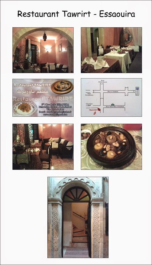 Restaurant Tawrirt à Essaouira