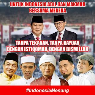 Gelombang Energi Ikhlas 5 Ulama Pendukung Prabowo-Sandi