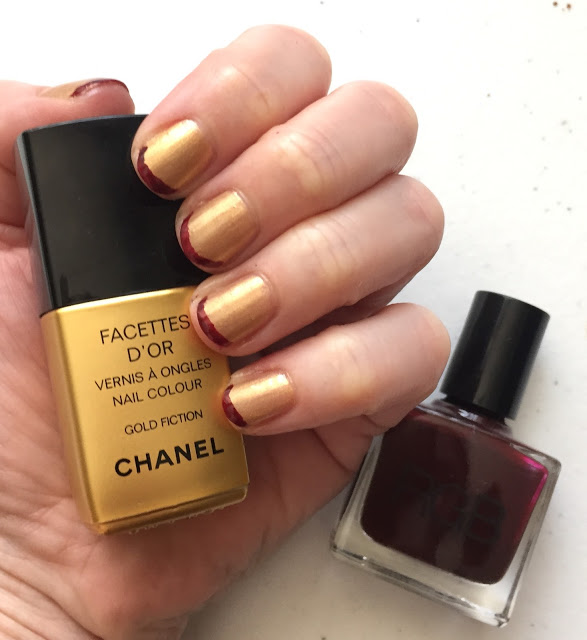 Throwback Thursday, #tbt, manicure, nails, nail polish, nail lacquer, nail varnish, Chanel Gold Fiction, RGB Cosmetics Oxblood, Cleveland Cavaliers, NBA national championship, French manicure, nail art