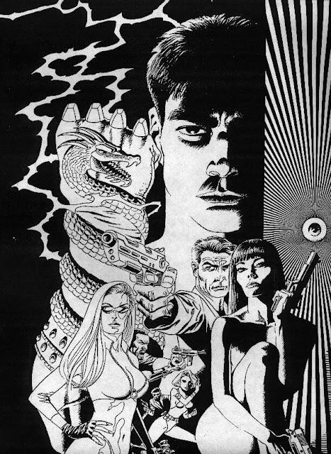 Dibujo de Shang-Chi por Paul Gulacy