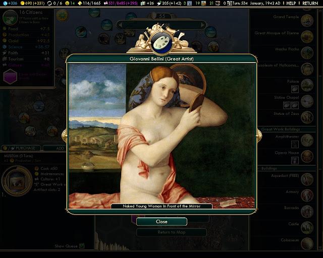Civilization 5: Brave New World - Great Artist Work