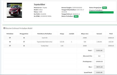 Aplikasi Bengkel , Dealer dan Showroom Mobil Menggunakan PHP