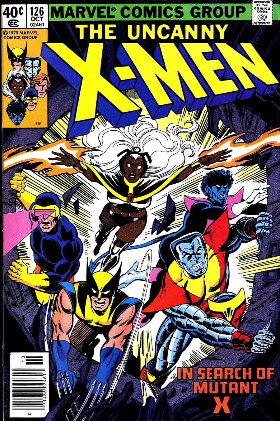 X-men v1 #126 marvel comic book cover art by John Byrne