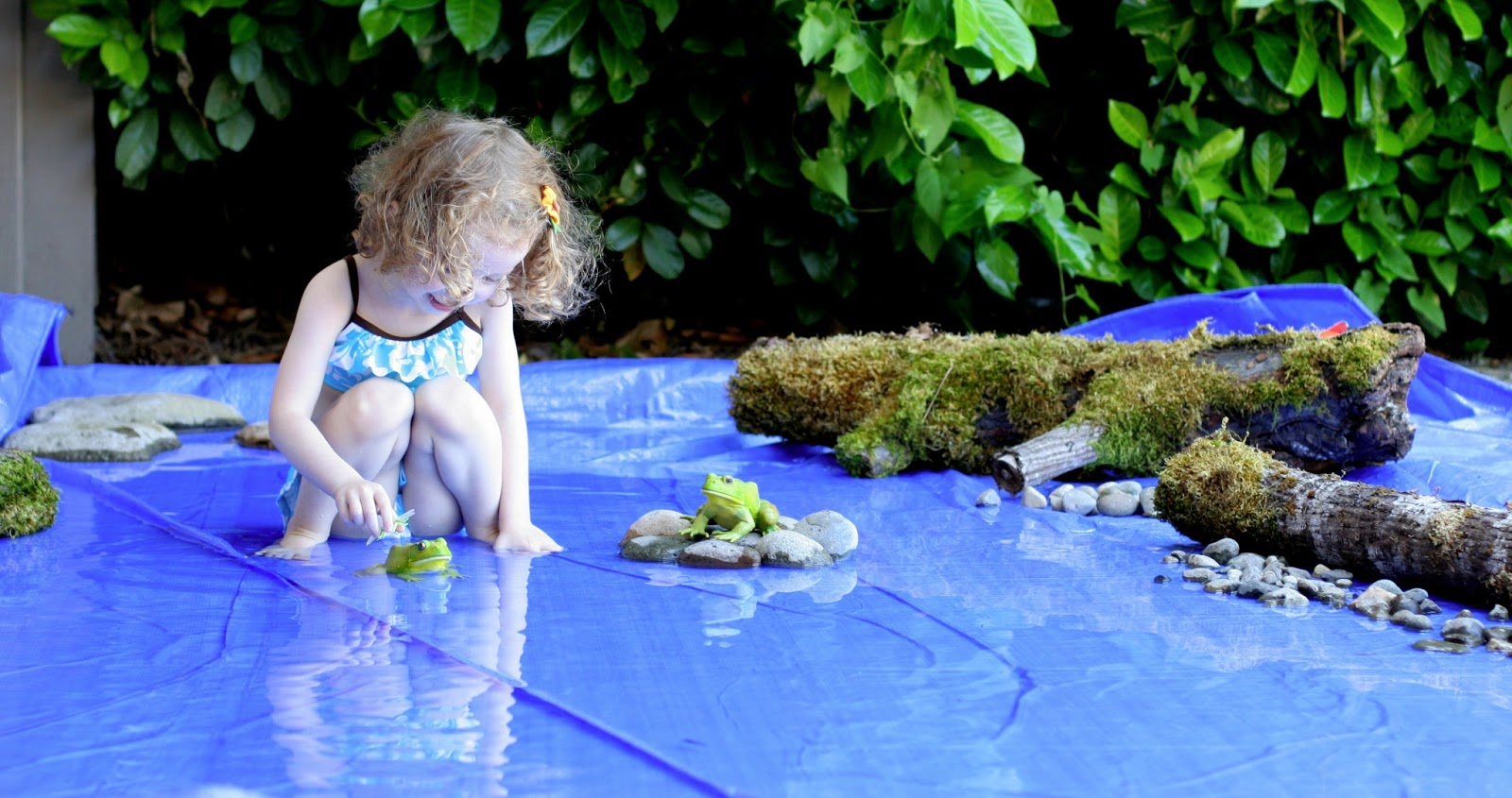 Giant Frog Pond World for Pretend Play from Fun at Home with Kids