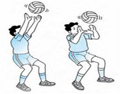 Cara melakukan passing atas bola voli