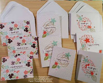 """Stampin'UP!'s Paper Pumpkin Craft kit for February 2016 """"Hello Sunshine"""""""