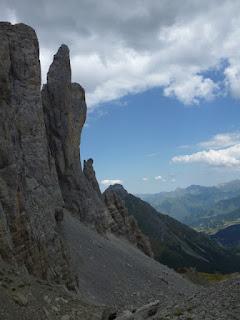 Agujas de Ansabère (durante el descenso)