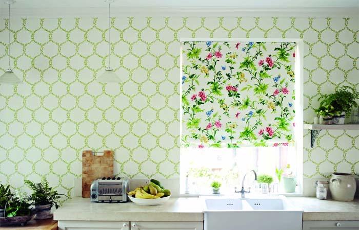 yeşilli mutfak duvar kağıdı örneği