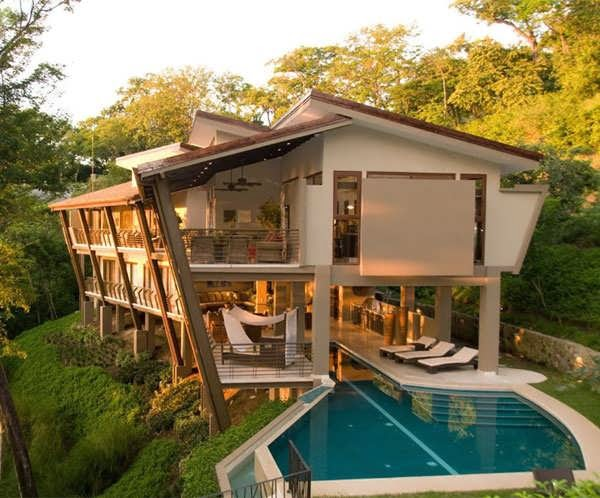 The Modern Houses Costa Rica Courtyard House Design Plan To Make Your Own Heaven