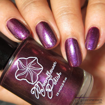 Nail polish swatch of Moonflower Polish Selene from the multichrome collection