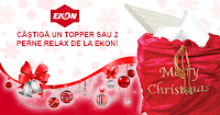 Castiga un topper + 2 perne Relax de la Ekon