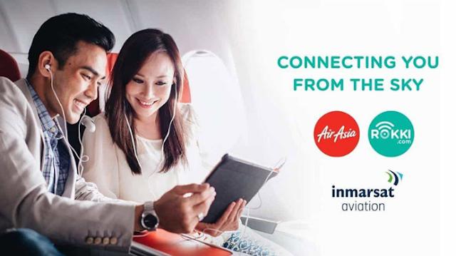 AirAsia dan Indosat Ooredoo Jalin Kerjasama Menyediaakan Layanan WIFI selama penerbangan