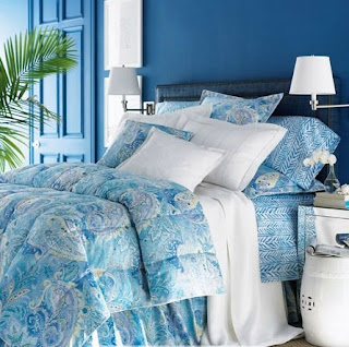 teal paisley bedding