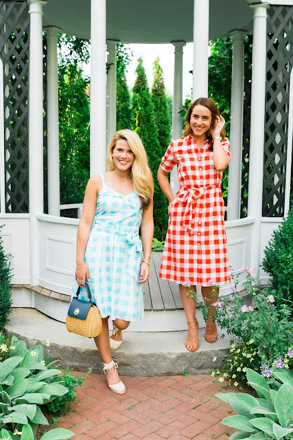 Gingham dresses from Reese Witherspoons clothing line Draper James