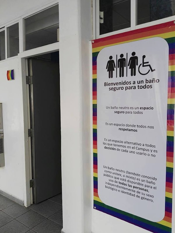 Tec de Monterrey ya tiene su primer baño sin distinción de género, pueden entrar hombres, mujeres.