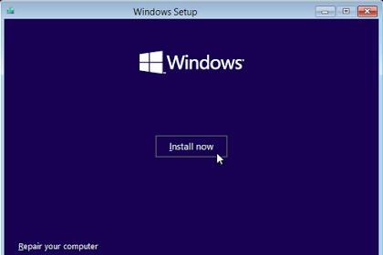 Cara install Windows 8/ 8.1 (Lengkap Dengan Gambar)