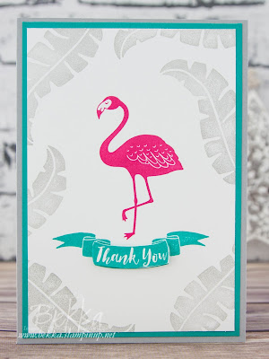 #IFoundAFlamingo A Fashionable Flamingo Thank You Card made with supplies by Stampin' Up! UK - buy Stampin' Up! here