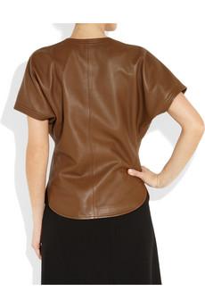 men women clothes yves saint laurent women leather t shirt. Black Bedroom Furniture Sets. Home Design Ideas
