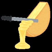 ラクレットチーズのイラスト