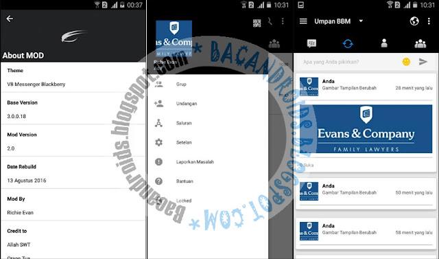 download BBM2 Mod Blackberry V8 Theme Versi 3.0.0.18 Apk Clone