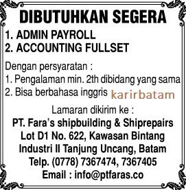 Lowongan Kerja PT. Faras Shipbuilding and Shiprepairs