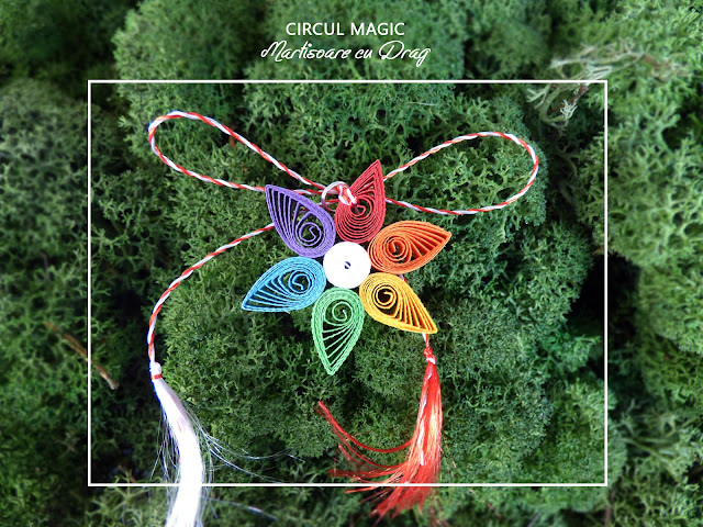 Circul Magic - Martisoare Quilling 2017 -  Brosa Violete de Parma
