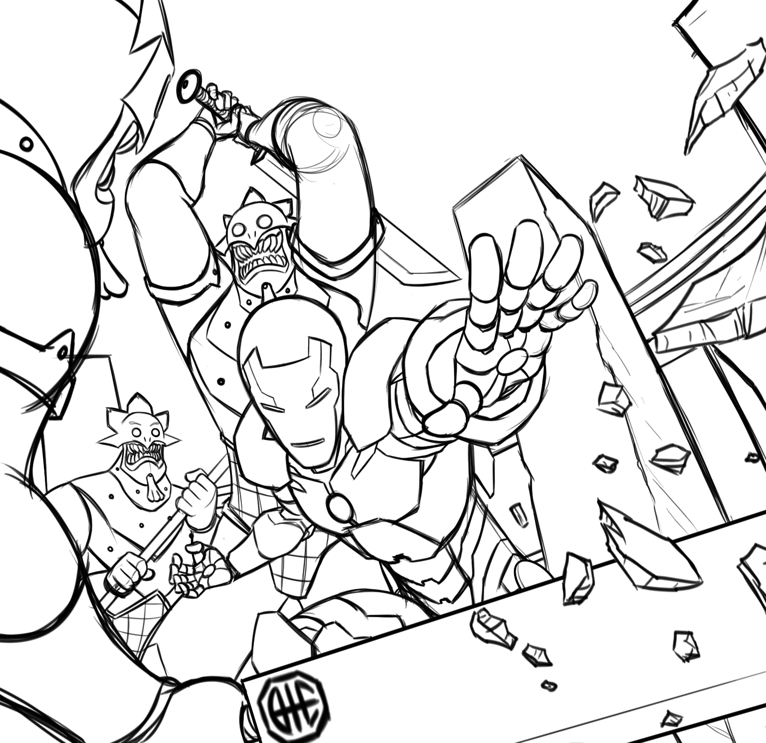 Coloring pages for kids free images: Iron Man Avengers ...
